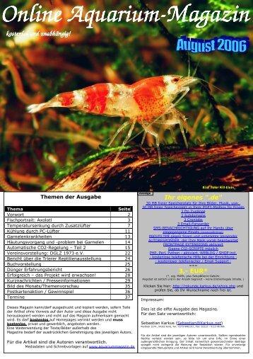 Online Aquarium Online Aquarium-Magazin kostenlos und