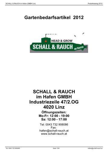 Gartenbedarfsartikel 2012 SCHALL & RAUCH im Hafen GMBH ...