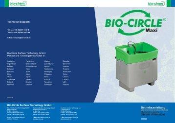Betriebsanleitung - Bio-Circle Home Page