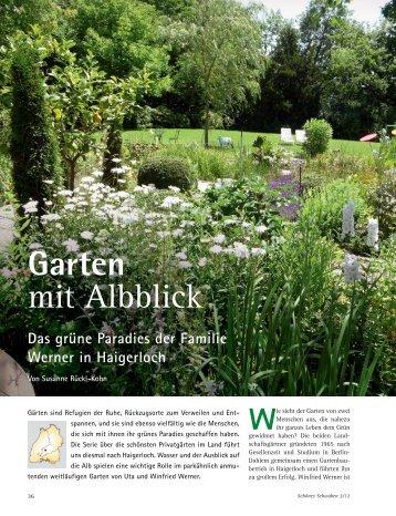Garten mit Albblick