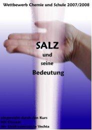 Salz, ein Stoff mit großer Bedeutung - Liebfrauenschule Vechta