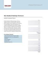 Bad-/Handtuch-Heizkörper thermocon - Stiebel Eltron