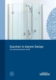 Duschen in klarem Design - STIEMERT DuschGLAS