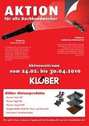 Aktion für alle Dachhandwerker - Klöber
