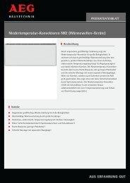 Niedertemperatur-Konvektoren NKE (Wärmewellen ... - ais-online.de