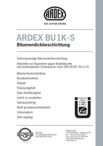 ARDEX BU1K-S Bitumendickbeschichtung
