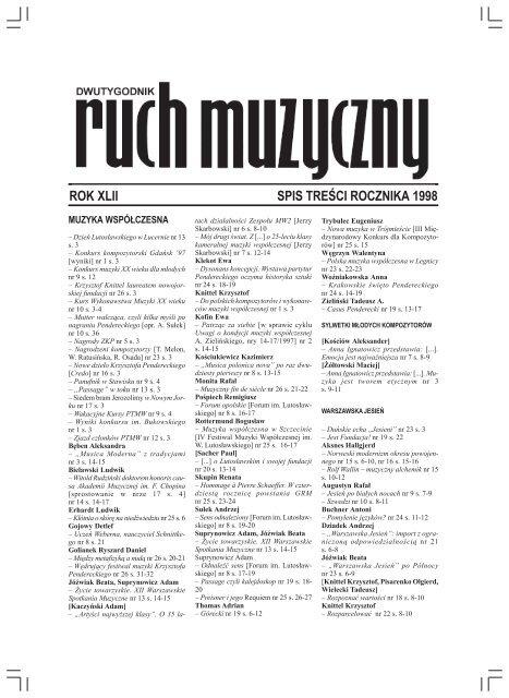 Bez Tytu³u 1 Ruch Muzyczny