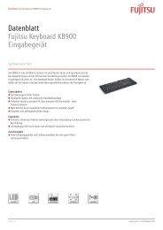 Datenblatt Fujitsu Keyboard KB900 Eingabegerät