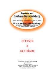 SPEISEN & GETRÄNKE - Stiftung Paracelsus heute
