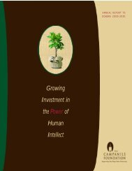 Growing Investment in the Power of Human Intellect - NewsCenter ...