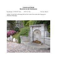 Limone sul Garda Brunnen an der Gardesana