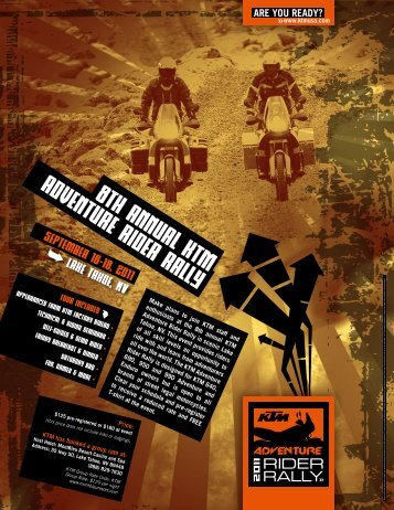 8th annual ktm adventure rider rally