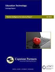 Education Technology Coverage Report - Capstone Partners