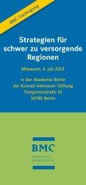 Strategien für schwer zu versorgende Regionen