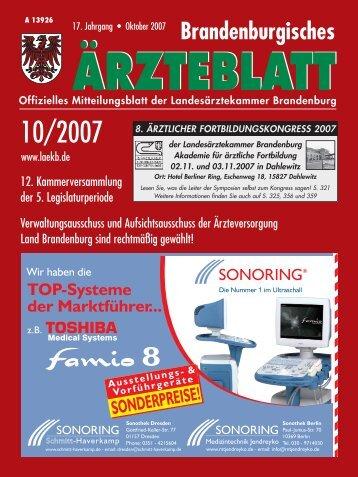 Ausgabe 10/2007 - Landesärztekammer Brandenburg