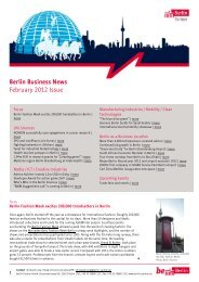 Berlin Business News February 2012 Issue - Berlin Partner GmbH