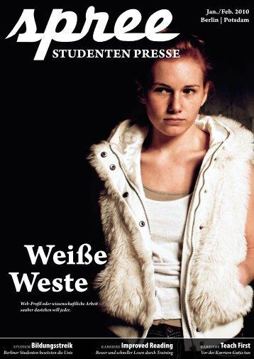 spree – Studenten Presse 1/2010 - STADTSTUDENTEN Berlin