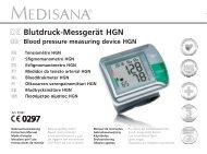 DEE Blutdruck-Messgerät HGN - Medisana