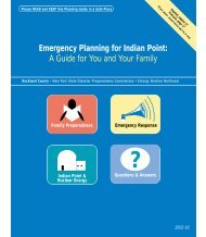 Emergency Planning for Indian Point - Village of Pomona