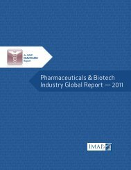 Pharmaceuticals & Biotech Industry Global Report — 2011 - Imap.com