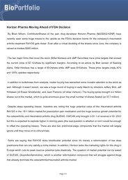 Horizon Pharma Moving Ahead of FDA Decision - BioPortfolio