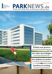 PARKNEWS.de - Siemens Real Estate