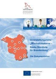 Wachstumskerne – Starke Standorte für Brandenburg