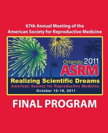 scientific program • symposia - American Society for Reproductive ...