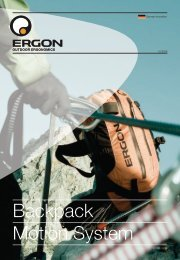 Optimal load distribution. Natural freedom of movement ... - Ergon