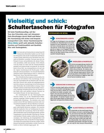 Vielseitig und schick: Schultertaschen für Fotografen