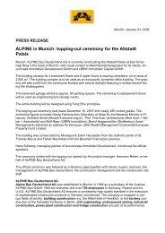 Pressemitteilung Januar 2006