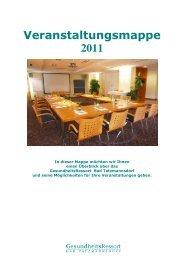 Veranstaltungsmappe 2011 - GesundheitsRessort