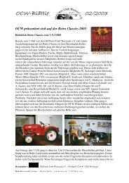 OCW-Blättle 02/2003 - OldTimer Club Weissach eV