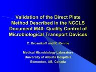 Validation of the Direct Plate Method Described in - Starplex Scientific