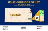 US-69 Corridor Study - Kansas Department of Transportation