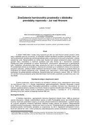 jur nad hronom - Acta Montanistica Slovaca