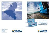 Liste d'affectations - VARTA Automotive