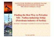 Finding the Best Way to Privatize NIS - Naftna industrija Srbije ...