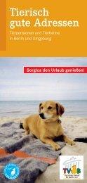 Tierisch gute Adressen - Der Tierschutzverein Berlin