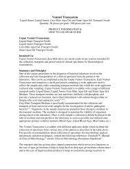 Venturi Transystem - Copan Diagnostics