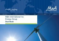 M&A International Inc.: Energy - Audon Trap & Partners