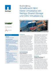 NetApp Shared Storage und Citrix Virtualisierung