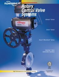 Rotary Control Valve Systems - Flowserve Corporation