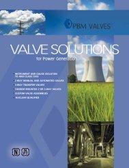 INSTRUMENT AND GAUGE ISOLATION TO ANSI ... - PBM Valve