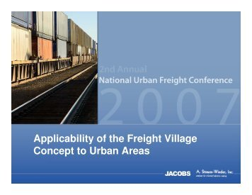 Applicability of the Freight Village Concept to Urban - METRANS ...