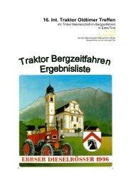 16. Int. Traktor Oldtimer Treffen