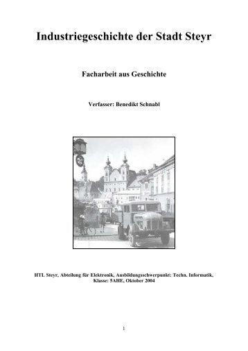 Industriegeschichte der Stadt Steyr - der HTL Steyr
