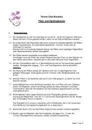 Tennis Club Bonaduz Platz- und Spielreglement