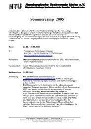 Sommercamp 2005 - TG Hamburg-Nord