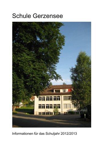 Informationen für das Schuljahr 2012/2013 - Schulen Region Berg